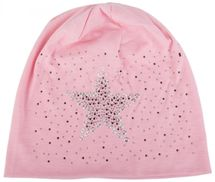 styleBREAKER slouch beanie with star rivets and rhinestone applications, punched rivets, unisex 04024049  – Bild 11