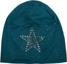 styleBREAKER slouch beanie with star rivets and rhinestone applications, punched rivets, unisex 04024049  – Bild 13