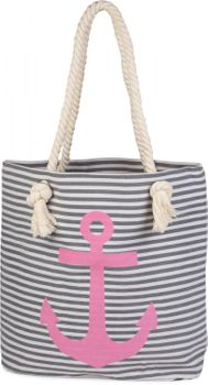 styleBREAKER striped look beach bag with anchor, sling bag, shopper, ladies 02012038 – Bild 14