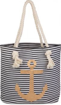 styleBREAKER striped look beach bag with anchor, sling bag, shopper, ladies 02012038 – Bild 12