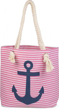 styleBREAKER striped look beach bag with anchor, sling bag, shopper, ladies 02012038 – Bild 13