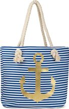 styleBREAKER striped look beach bag with anchor, sling bag, shopper, ladies 02012038 – Bild 21