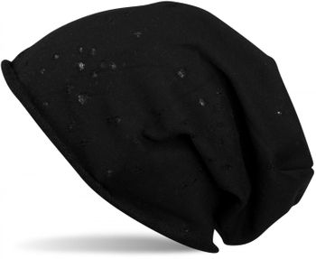 styleBREAKER vintage slouch beanie, perforated and with rolled cuff, unisex 04024052  – Bild 6