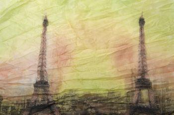 styleBREAKER Eiffelturm, Paris Design Muster Loop Schlauchschal, Crash and Crinkle, seidig leicht, Damen 01016102 – Bild 12