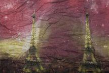 styleBREAKER Eiffelturm, Paris Design Muster Loop Schlauchschal, Crash and Crinkle, seidig leicht, Damen 01016102 – Bild 6