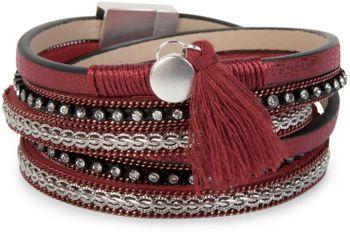 styleBREAKER Vintage Wickelarmband mit Strass, Quasten Anhänger und Ketten, 3-Reihig, Armband, Damen 05040027 – Bild 4