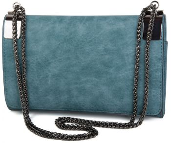 styleBREAKER clutch, evening bag with metal clasp and plain coil chain, vintage design, ladies 02012046 – Bild 3