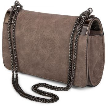 styleBREAKER clutch, evening bag with metal clasp and plain coil chain, vintage design, ladies 02012046 – Bild 16