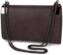styleBREAKER clutch, evening bag with metal clasp and plain coil chain, vintage design, ladies 02012046 – Bild 9