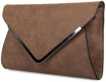 styleBREAKER Envelope Clutch, Abendtasche im Kuvert Design mit Schulterriehmen und Trageschlaufe, Damen 02012047 – Bild 15