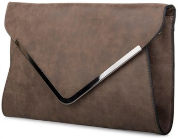 styleBREAKER Envelope Clutch, Abendtasche im Kuvert Design mit Schulterriehmen und Trageschlaufe, Damen 02012047 – Bild 14