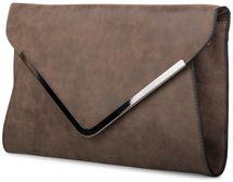 styleBREAKER Envelope Clutch, Abendtasche im Kuvert Design mit Schulterriehmen und Trageschlaufe, Damen 02012047 – Bild 9
