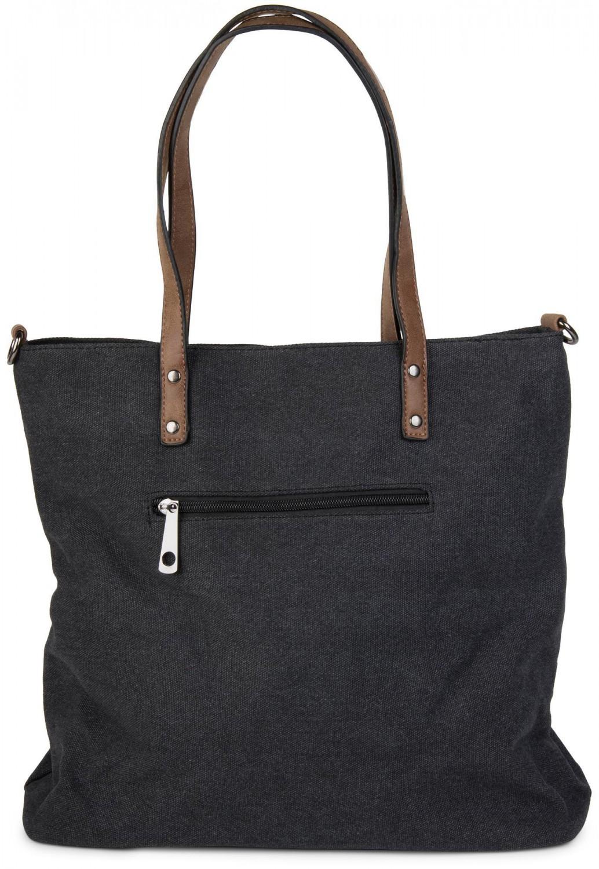styleBREAKER Canvas Shopper Handtasche mit aufgenähtem Stern,  Schultertasche, Umhängetasche, Damen 02012048 – Bild 0a9cf7214e