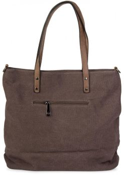 styleBREAKER canvas shopper handbag with star patch, sling bag, shoulder bag, ladies 02012048 – Bild 14