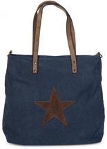 styleBREAKER canvas shopper handbag with star patch, sling bag, shoulder bag, ladies 02012048 – Bild 4