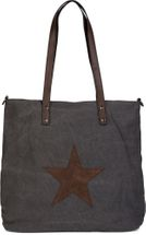 styleBREAKER canvas shopper handbag with star patch, sling bag, shoulder bag, ladies 02012048 – Bild 17