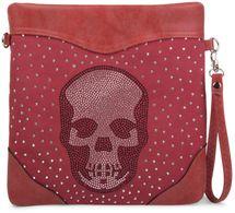 styleBREAKER shoulder bag, clutch with rhinestone skull and rhinestone-rivet applications, ladies 02012049 – Bild 7