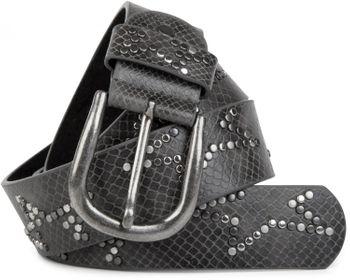 styleBREAKER Nietengürtel mit dezentem Stern Nieten Design und Schlangen Print im Vintage Look, kürzbar, Unisex 03010054 – Bild 19