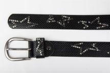 styleBREAKER Nietengürtel mit dezentem Stern Nieten Design und Schlangen Print im Vintage Look, kürzbar, Unisex 03010054 – Bild 9
