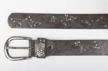 styleBREAKER studded belt with decent star rivet design and vintage look honeycomb embossing, can be cut to length on request, unisex 03010054 – Bild 12