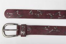 styleBREAKER Nietengürtel mit dezentem Stern Nieten Design und Schlangen Print im Vintage Look, kürzbar, Unisex 03010054 – Bild 18