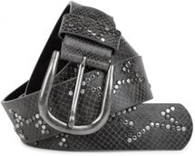 styleBREAKER studded belt with decent star rivet design and vintage look honeycomb embossing, can be cut to length on request, unisex 03010054 – Bild 19