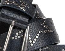 styleBREAKER Nietengürtel mit dezentem Stern Nieten Design und Schlangen Print im Vintage Look, kürzbar, Unisex 03010054 – Bild 5