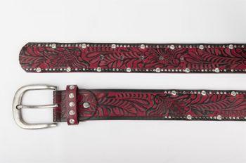styleBREAKER Vintage Gürtel mit Ornament Prägung, Nieten und Strass, kürzbar, Damen 03010056 – Bild 21
