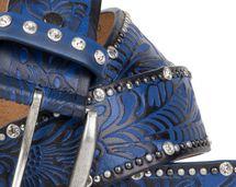 styleBREAKER Vintage Gürtel mit Ornament Prägung, Nieten und Strass, kürzbar, Damen 03010056 – Bild 8