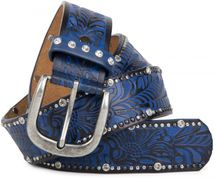 styleBREAKER vintage belt with ornament embossing, rivets and rhinestone, can be cut to length on request, ladies 03010056 – Bild 7
