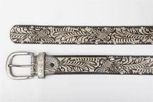 styleBREAKER vintage belt with ornament embossing, rivets and rhinestone, can be cut to length on request, ladies 03010056 – Bild 15