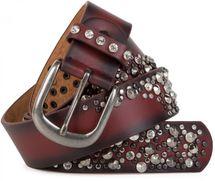 styleBREAKER Vintage Gürtel mit Nieten und Strass im 2-Tone Design, kürzbar, Damen 03010057 – Bild 9