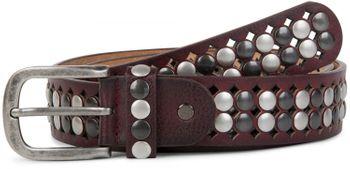 styleBREAKER Vintage Design Nietengürtel mit hellen und dunklen Nieten, all over Perforation, kürzbar, Unisex 03010060 – Bild 11