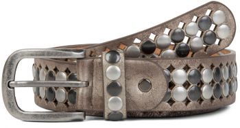 styleBREAKER vintage design studded belt with light and dark coloured rivets, all over perforation, can be cut to length on request, unisex 03010060 – Bild 13
