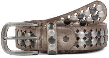styleBREAKER Vintage Design Nietengürtel mit hellen und dunklen Nieten, all over Perforation, kürzbar, Unisex 03010060 – Bild 13