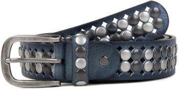 styleBREAKER Vintage Design Nietengürtel mit hellen und dunklen Nieten, all over Perforation, kürzbar, Unisex 03010060 – Bild 12