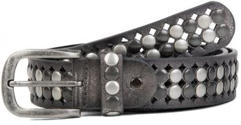 styleBREAKER vintage design studded belt with light and dark coloured rivets, all over perforation, can be cut to length on request, unisex 03010060 – Bild 14