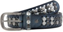 styleBREAKER vintage design studded belt with light and dark coloured rivets, all over perforation, can be cut to length on request, unisex 03010060 – Bild 12