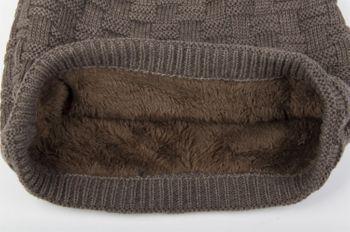 styleBREAKER warming braided pattern fine knit slouch beanie with an ultra soft fleece lining, unisex 04024058  – Bild 13