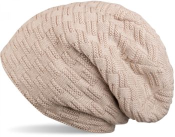 styleBREAKER warming braided pattern fine knit slouch beanie with an ultra soft fleece lining, unisex 04024058  – Bild 7