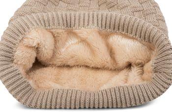 styleBREAKER warming braided pattern fine knit slouch beanie with an ultra soft fleece lining, unisex 04024058  – Bild 35