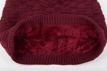 styleBREAKER warming braided pattern fine knit slouch beanie with an ultra soft fleece lining, unisex 04024058  – Bild 18