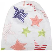 styleBREAKER crazy destroyed slouch beanie with colourful stars, dotted and striped look, ladies 04024059 – Bild 4