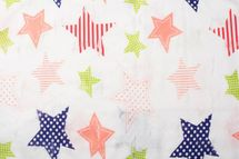 styleBREAKER crazy destroyed tube scarf with colourful stars, dotted and striped look, women 01018089 – Bild 4