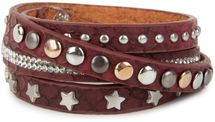 styleBREAKER wrap bracelet with rhinestone, different rivets and stars, bracelet, ladies 05040029 – Bild 10