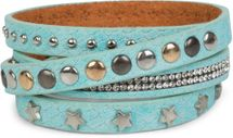 styleBREAKER wrap bracelet with rhinestone, different rivets and stars, bracelet, ladies 05040029 – Bild 14
