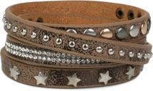 styleBREAKER wrap bracelet with rhinestone, different rivets and stars, bracelet, ladies 05040029 – Bild 15