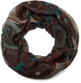 styleBREAKER glittering ethno design tube scarf with colourful circles, dots and glitter, ladies 01018085 – Bild 1
