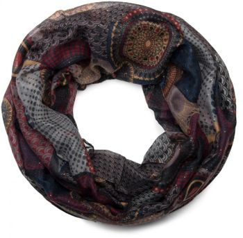 styleBREAKER glittering ethno design tube scarf with colourful circles, dots and glitter, ladies 01018085 – Bild 6