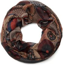 styleBREAKER glittering ethno design tube scarf with colourful circles, dots and glitter, ladies 01018085 – Bild 3